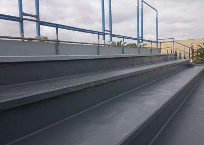Proyectado poliurea Gradas estadio futbol Cotif Alcudia