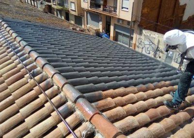 Impermeabilización de tejados (proyectado poliurea)