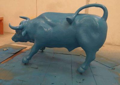 Protección y decoración figuras papel maché con poliurea