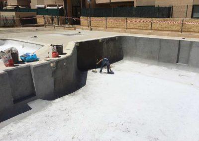 Rehabilitación piscina,terraza