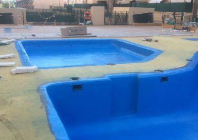 Proyectado poliurea piscina,terraza