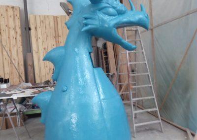 Proteccion de dragon fiestas Pedreguer, Artista Rafa Cheli