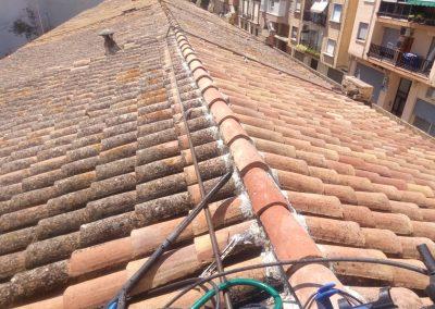 Preparacion  de teja para proyectado de poliurea, Valencia