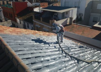 Proyectado teja con poliurea, Pobla fernals