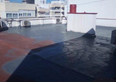 Terraza de rasilla con poliurea