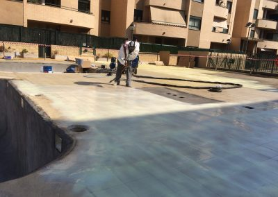 proyectado poliurea piscina,terraza sin juntas