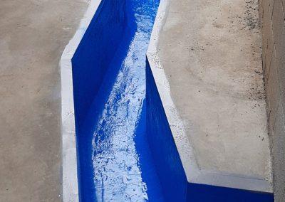 Canal de recogida de agua